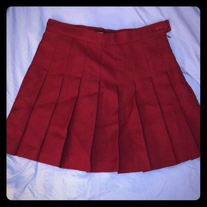 American Apparel pleated skirt- plum- medium